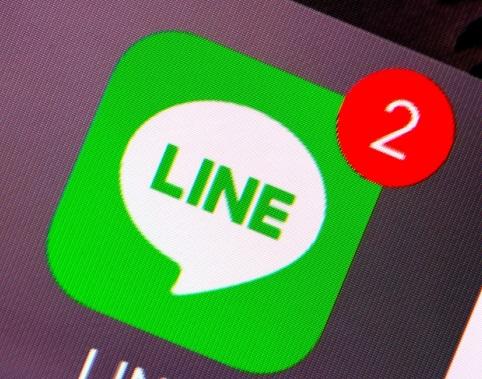 LINEのアイコンに2件の通知